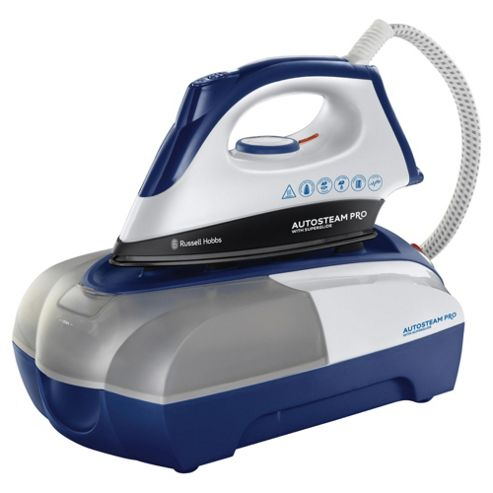 Russell Hobbs 18653 Steam Glide Non Stick Plate Steam Generator Iron - Blue & White