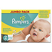 Pampers New Baby Size 2 Jumbo Box 70 Nappies