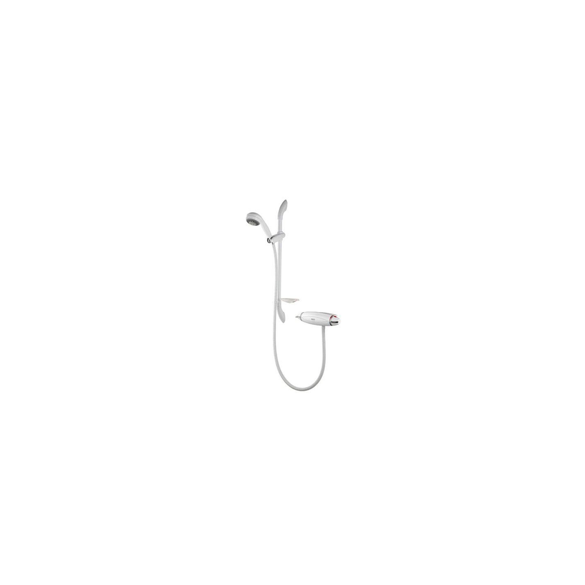 Aqualisa Aquarian Thermo Exposed Shower Valve with Adjustable Shower Head White at Tesco Direct