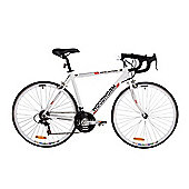 Woodworm White Lightning Adults Road Racing Bike - 18 Speed - Shimano Parts