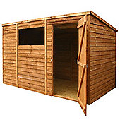 7ft x 5ft Wooden Overlap Pent Shed 7 x 5 Garden Wooden Shed