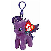 "Ty Beanie Babies My Little Pony 4"" Key Clip - Twilight Sparkle"