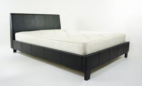 Alpha furniture Denver Bed Frame - Black - No - Single (3')