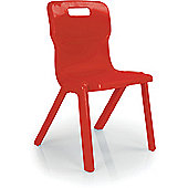 Titan One Piece School Chair Size 5 Red KF72169