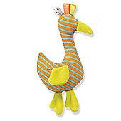 Soft Toy Animal Prints for 6 m+ - Orange Duck