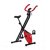 Confidence Fitness Folding Exercise X Bike Red