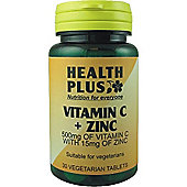 Health Plus Vitamin C And Zinc 30 Veg Tablets