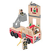 Whittle World - Fire Rescue Play Set - Melissa And Doug