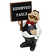 Cook - Comic Chef Themed Reserved Table Board