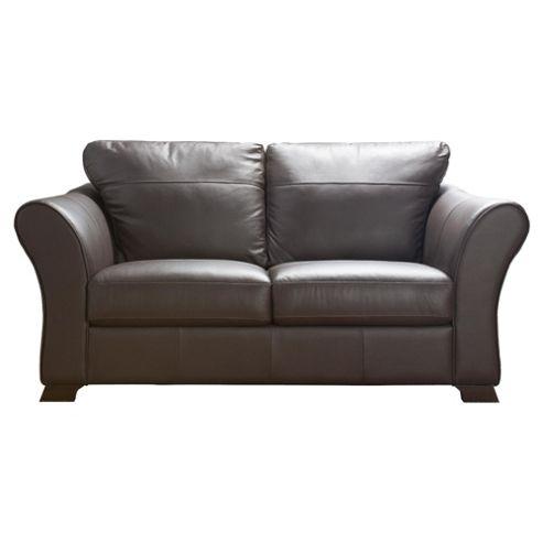 Capri Medium 2 Seater Leather Sofa Chocolate