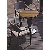 BrackenStyle Two Seat Bistro Set & Cushions - Light Grey