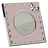 Addison Ross Baby Enamel Photo Frame Pink Ribbon Frame