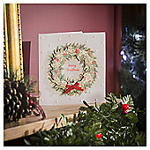 Wreath Luxury Christmas Cards, 6 pack