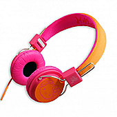 Headphones Pink and Orange