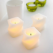 Set of 3 Mini Twisted Wax Battery LED Candles