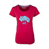 Summer Tree Womens Printed Breathable Lightweight Short Sleeved Cotton T-Shirt - Red