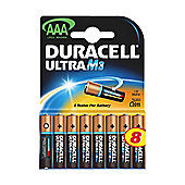 Duracell Ultra Power M3 Alkaline AAA Batteries 8 Pack
