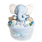 Baby Boy Nappy Cake Bouquet Arrangement