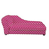 Children's Chaise Longue - Pink Hearts