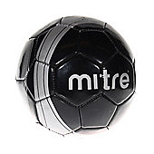 Mitre Ace Mini Football Soccer Ball - Black / Silver