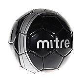 MITRE Ace Mini Football Soccer Ball, Black / Silver