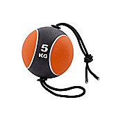 York Fitness 5kg Medicine Ball with Rope
