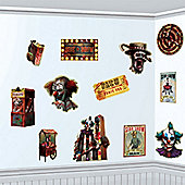 Creepy Carnival Side Show Cutouts - 28cm