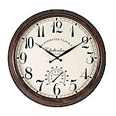 Outside In Cheltenham Wall Clock and Thermometer 23in