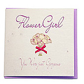 Bliss Wedding - Flowergirl Wedding Card