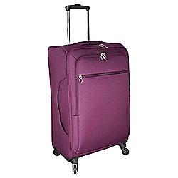 Tesco Lightweight 4-Wheel Medium Berry Suitcase