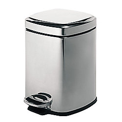 Gedy Pedal Bin Square in Polished