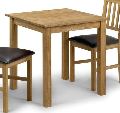 Julian Bowen Coxmoor Oak Square Dining Table - 75cm