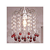 Loxton Lighting Snowdrop Two Tier Pendant in Clear Red