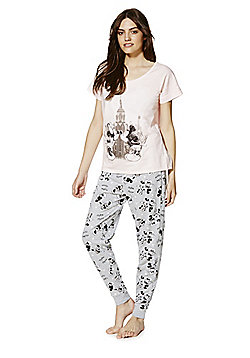 c4e5b04896 Disney Mickey and Minnie New York Pyjamas - Pink