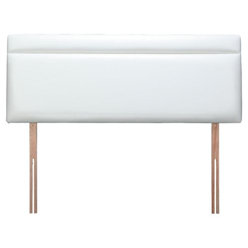 Seetall Liberty Headboard White Faux Leather Double