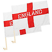 2 x England St George Car Window Supporter Flags