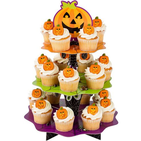 Tesco Halloween Cake Decoration : Buy Halloween Cake Decorations Pumpkin Cupcake Stand from ...