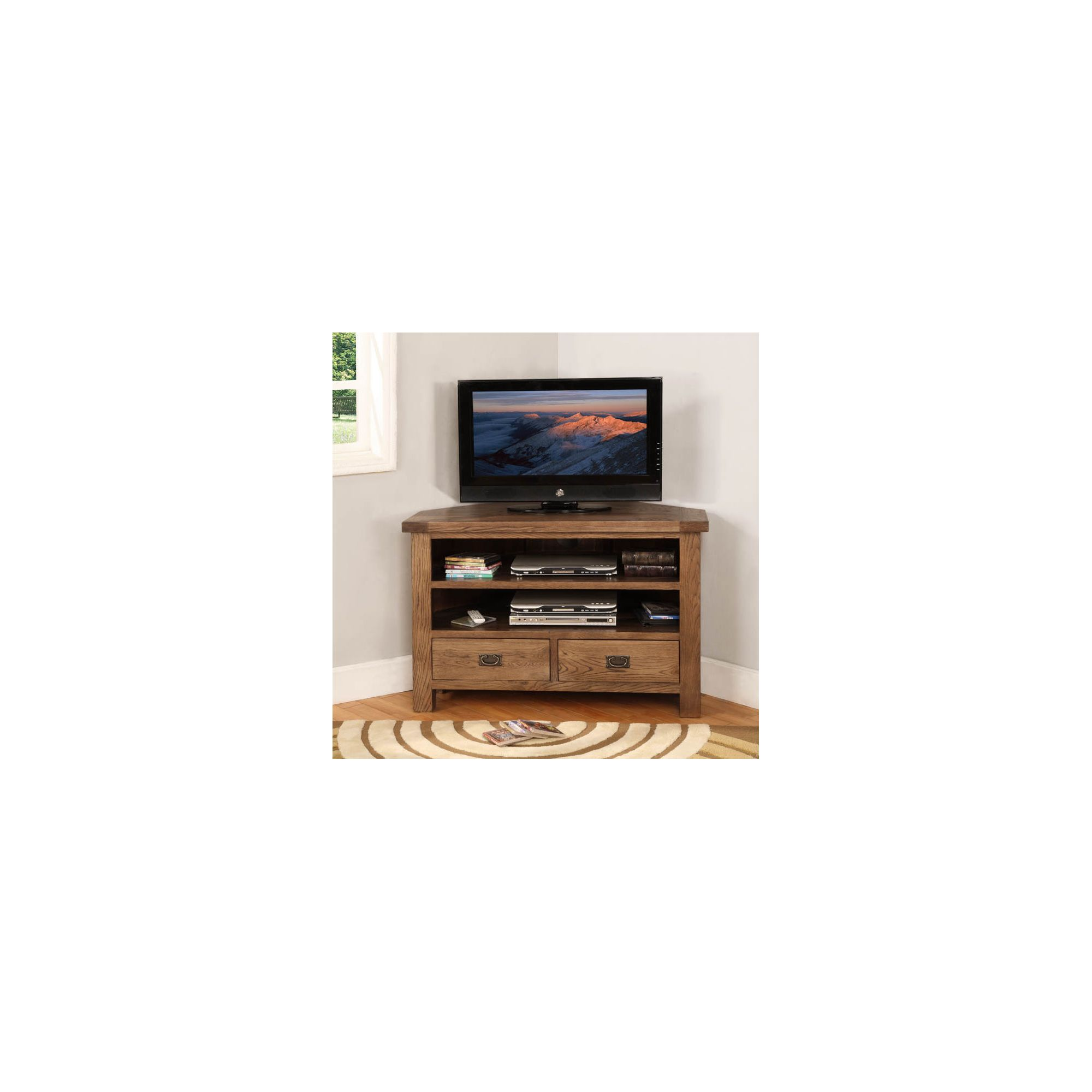 Hawkshead Broadway Wooden Corner TV Cabinet at Tesco Direct