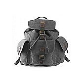 TRP0268 Troop London Heritage Large Canvas Backpack Black