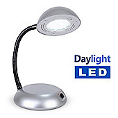 Daylight LED Adjustable Reading Table / Desk Lamp in Silver
