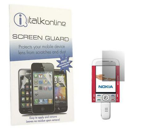 iTALKonline S-Protect LCD Screen Protector and Micro Fibre Cleaning Cloth - For Nokia 5700