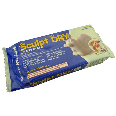 Sculpt Dry Air Drying Clay - 1kg - White