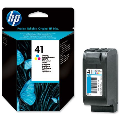 HP No.41 Tri-Colour InkJet Print Cartridge - Cyan/Magenta/Yellow
