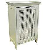 Weave - Floor Standing Laundry Cupboard / Linen Bin - White