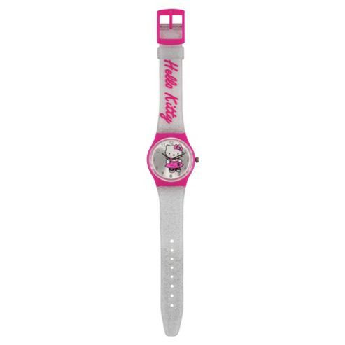 Hello Kitty Analogue Watch With Glitter Strap (ZR25230)