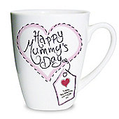 Personalised Heart Stitch Happy Mummy's Day Latte Mug
