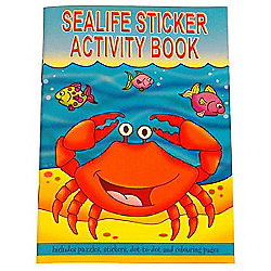 A6 Sealife Sticker Activity Book