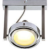 Home Essence Baroni 1 Light Ceiling Spotlight in Chrome and Nickel Matte