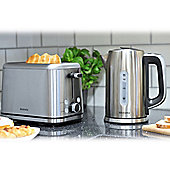 Brabantia BQPK02 Breakfast Set Kettle and 4 Slice Toaster - Brushed Stainless Steel