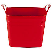 15L Square Stackable Flexitub - Red